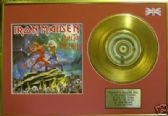 "IRON MAIDEN -7""single Gold Disc+cover-RUN TO THE HILLS"